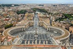 Luchtmening van de stad van Vatikaan stock afbeeldingen