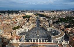 Luchtmening van de stad van Vatikaan royalty-vrije stock foto's
