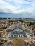 Luchtmening van de stad van Vatikaan stock foto's