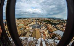 Luchtmening van de stad van Vatikaan royalty-vrije stock afbeelding