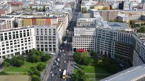 Luchtmening van de stadscentrum van Berlijn, Duitsland stock videobeelden