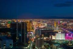 Luchtmening van de strook van Las Vegas in Nevada royalty-vrije stock afbeelding