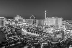Luchtmening van de strook van Las Vegas in Nevada royalty-vrije stock afbeeldingen