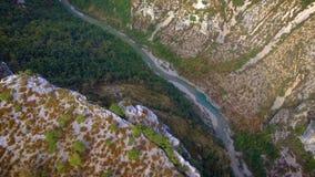 Luchtmening van de Verdon-rivier stock videobeelden