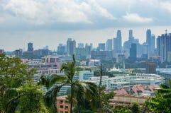 Luchtmening van de woondistricten van Singapore Stock Afbeelding