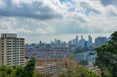 Luchtmening van de woondistricten van Singapore Royalty-vrije Stock Afbeelding