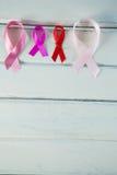 Luchtmening van diverse linten van de Kankervoorlichting Stock Fotografie
