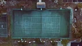 Luchtmening van een rustieke tennisbaan royalty-vrije stock afbeelding