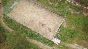 Luchtmening van een speelplaats van de sportenvoetbal stock video