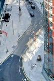 Luchtmening van een straat in Londen, het Verenigd Koninkrijk royalty-vrije stock foto's