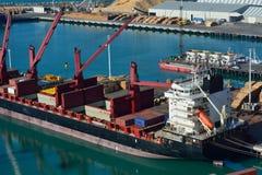 Luchtmening van een vrachtschip Stock Foto
