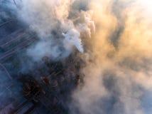 Luchtmening van elektrische centrale royalty-vrije stock foto