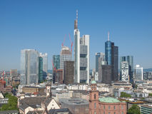 Luchtmening van Frankfurt royalty-vrije stock foto