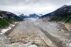 Luchtmening van gletsjer in Alaska Royalty-vrije Stock Fotografie