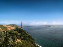 Luchtmening van Golden gate bridge in San Francisco, Californië stock foto