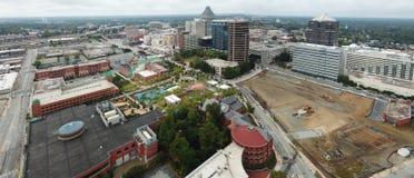 Luchtmening van Greensboro stock fotografie