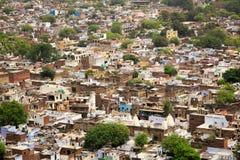 Luchtmening van Gwalior-stad in India Stock Foto