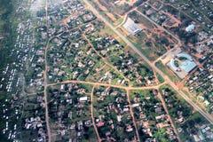 Luchtmening van Harare stock foto