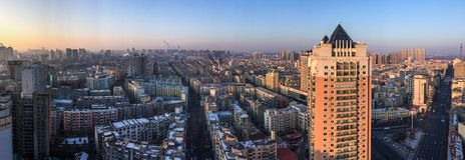 Luchtmening van Harbin, China royalty-vrije stock fotografie