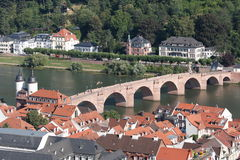 Luchtmening van Heidelberg, Duitsland. Royalty-vrije Stock Foto