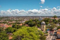 Luchtmening van het Astronomische Waarnemingscentrum, Olinda, Pernambuco, Brazilië royalty-vrije stock foto's
