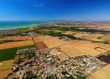Luchtmening van het dorp van Heilige Vivien in Charente-Maritime Stock Fotografie