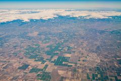 Luchtmening van het gebied van Fresno Royalty-vrije Stock Afbeeldingen