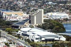 Luchtmening van het het Gouden Centrum van de Kustovereenkomst en Hotel & het Casino van Jupiters Royalty-vrije Stock Foto's