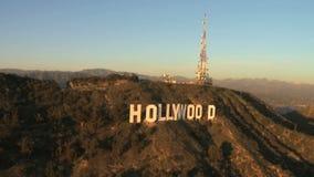 Luchtmening van het Hollywood-Teken - Los Angeles - Klem 2 stock videobeelden