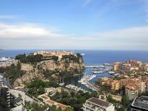 Luchtmening van het koninklijke paleis, Monaco Royalty-vrije Stock Foto's