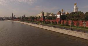 Luchtmening van het Kremlin stock videobeelden