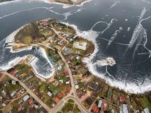 Luchtmening van het Meer en Rajgrod van Rajgrodzkie Royalty-vrije Stock Afbeeldingen