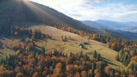 Luchtmening van het mooie landschap van de de herfstberg Stock Fotografie