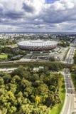 Luchtmening van het Nationale Stadion van Warshau Royalty-vrije Stock Foto's