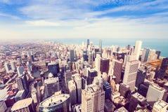 Luchtmening van het noordenkant van Chicago Royalty-vrije Stock Fotografie