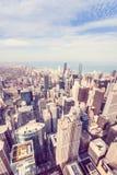 Luchtmening van het noordenkant van Chicago Royalty-vrije Stock Foto