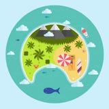 Luchtmening van het paradijs de Tropische Eiland Royalty-vrije Stock Afbeelding