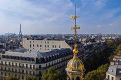Luchtmening van het terras van opslag Printemps, Parijs, Frankrijk Stock Afbeeldingen