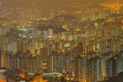 Luchtmening van Hong Kong-horizon royalty-vrije stock fotografie