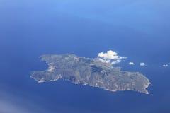 Luchtmening van Isola del Giglio stock afbeeldingen