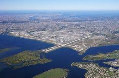 Luchtmening van John F Kennedy International Airport & x28; JFK& x29; in New York royalty-vrije stock foto