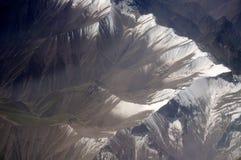 Luchtmening van Karakoram-bergen van Sinkiang, China Stock Foto's
