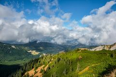 Luchtmening van Kasprowy Wierch, Zakopane, Nationaal Park, Polen Royalty-vrije Stock Afbeelding