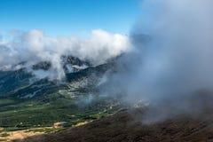 Luchtmening van Kasprowy Wierch, Zakopane, Nationaal Park, Polen Stock Afbeelding