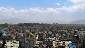 Luchtmening van Katmandu stock videobeelden