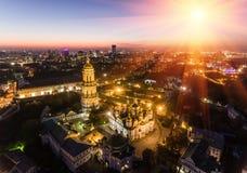Luchtmening van Kiev Pechersk Lavra, Kiev, Kyiv, de Oekraïne royalty-vrije stock foto