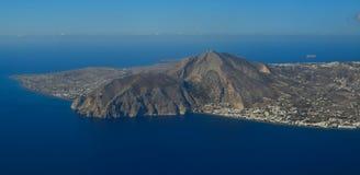 Luchtmening van kleine eilanden stock afbeeldingen