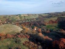 Luchtmening van kleurrijk bos stock foto's