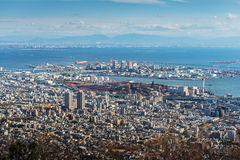 Luchtmening van Kobe City Royalty-vrije Stock Foto