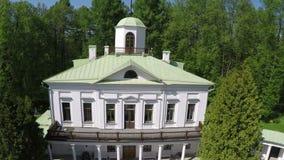 Luchtmening van landgoed in Tsaritsyno-museum Moskou, Rusland stock video